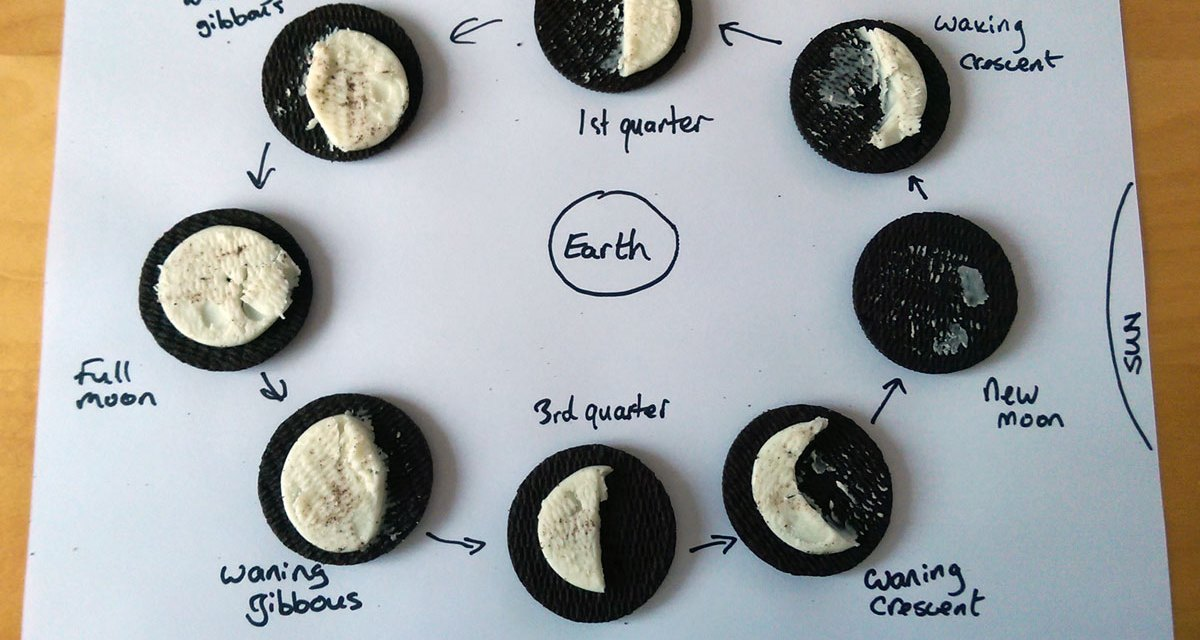Quick Science Idea : Oreo Cookie Moon Phase Model