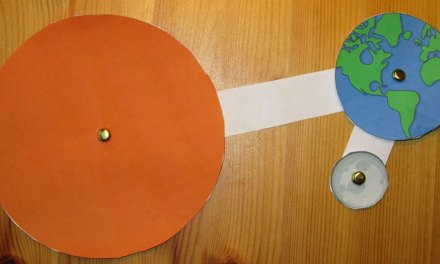 Quick Science Idea : Sun, Earth and Moon Papercraft Model
