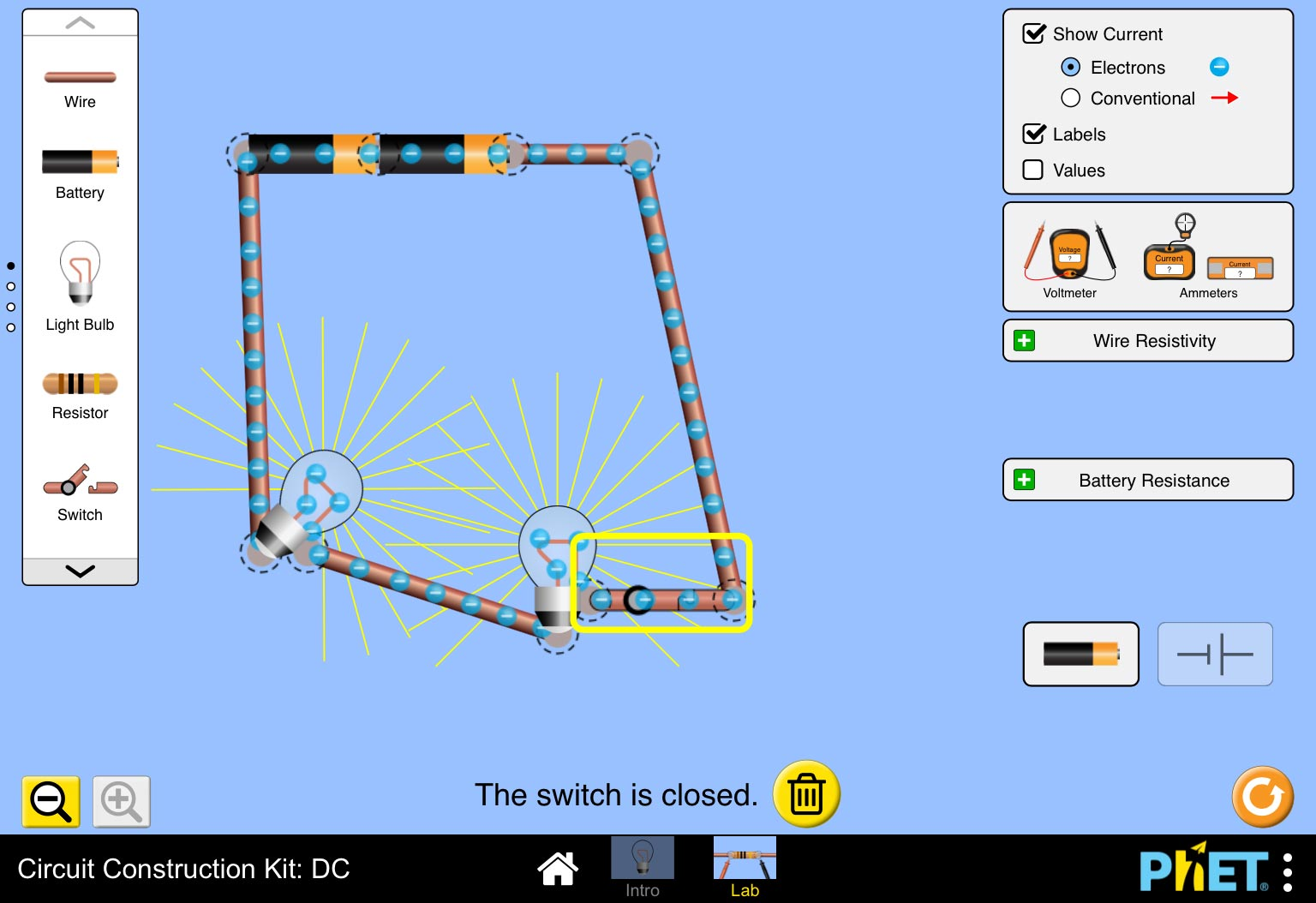 Circuit Construction Kit Simulation Allows Students To Build Phet Acdc From Now Works On Ipads Rh Whiteboardblog Co Uk