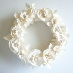Spring paper flower wreath