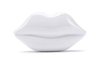 Lulu Guiness_Perspex Lips Clutch_$390