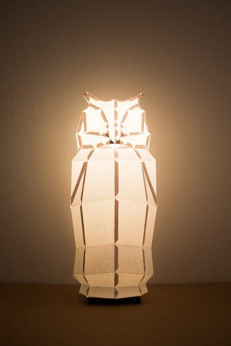 owl lamp lit