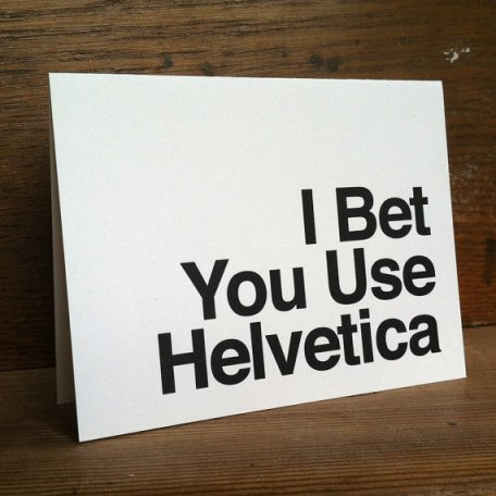 Helvetica-letterpress-card