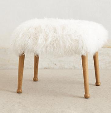 faux-fur-stool-Anthropologie