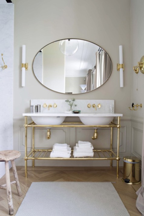 white-bathroom-gold accents