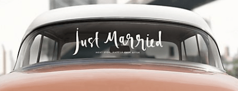 just married kate spade