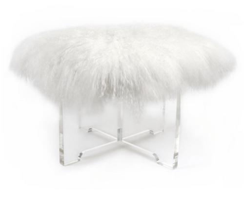 Mongolian-fur-bench-white