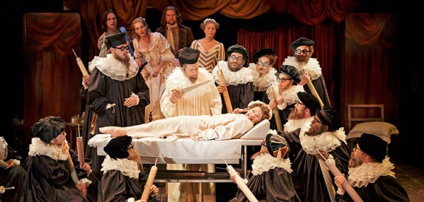 Members of the company in The Hypochondriac. Photography by David Hou.