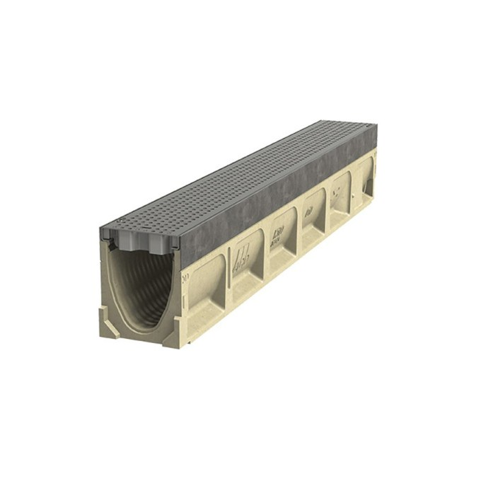 Aco Drain Powerdrain Model Sk1 21 39 37 Sloped Channel For S100k Drain White Cap