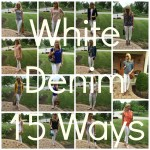 White Denim: 15 Outfits With One Pair of Jeans!