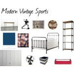 One Room Challenge {ORC}: A Modern Vintage Sports Bedroom