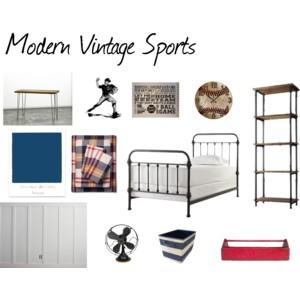 One Room Challenge {ORC}: Week #4 Modern Vintage Sports Bedroom