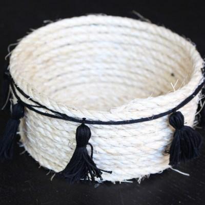 DIY Sisal Rope Tassel Basket