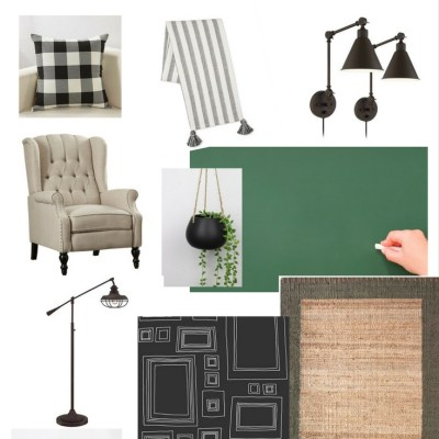 One Room Challenge {ORC} Week #3: Functional & Stylish Home Office