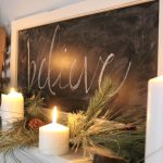 A Farmhouse Christmas Mantel Dressed in Candlelight