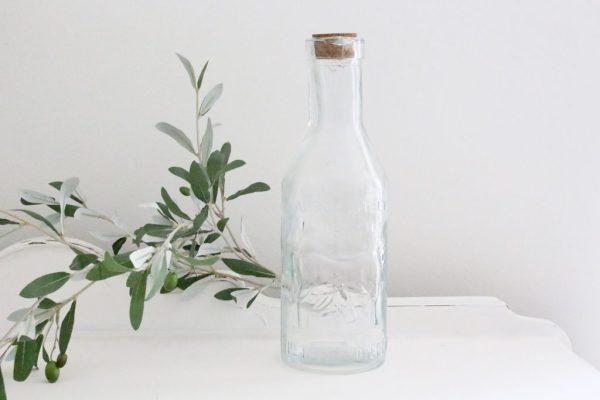 milk bottle- bottle- vase- kitchen- vintage- farmhouse- home decor