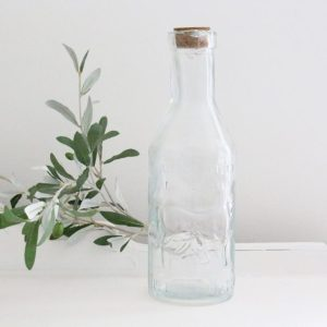 milk bottle- bottle- vase- kitchen- vintage- farmhouse- home decor