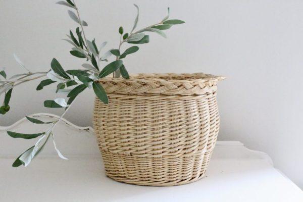 decorative- basket- farmhouse- storage- plants- flowers- home decor- vintage
