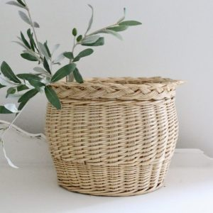 decorative- basket- farmhouse- storage- plants- flowers- home decor- vintage