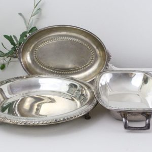 silver- bowls- vintage goods- home decor- table setting
