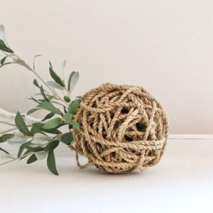 decorative- rope ball- home decor- farmhouse- centerpiece- cottage