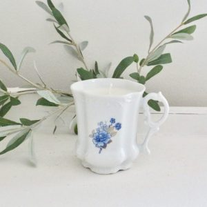 handmade- creamer- candle- home decor- vintage