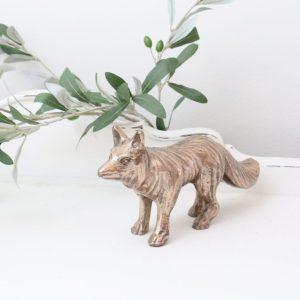 home decor- fox- figurine- vintage goods