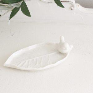 leaf- plate- bird- home decor