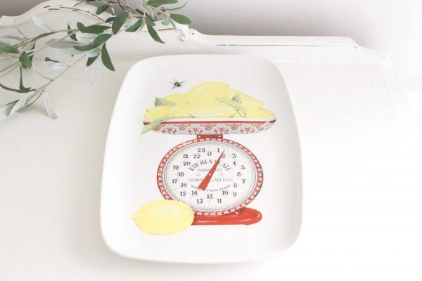 kitchen- stoneware platter- scale