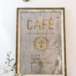 antique- mirror- cafe- wood framed- home decor