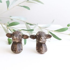 cow knobs- knobs- cow- farm animal- dresser knobs- home decor