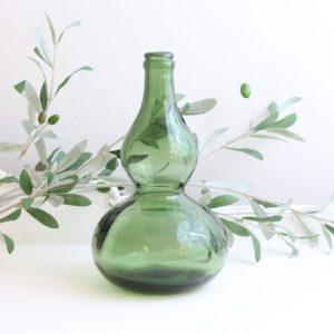 bottle- green- home decor- vase