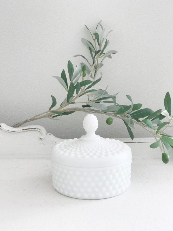 covered dish- vintage goods- milk glass- home decor