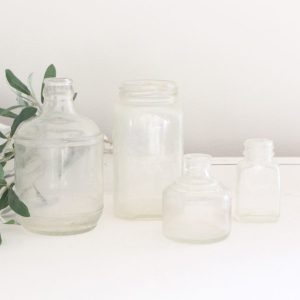 glass bottles- vintage- bottles- clear bottles- home decor