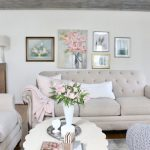 A Light & Airy Spring Family Room Space