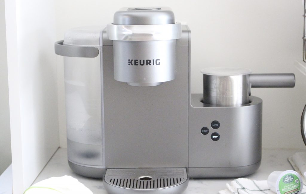 Introducing an all in one coffee maker, latte & cappuccino maker- Keurig- cappuccino, latte, coffeehouse, coffee bar, coffee station, make at home drinks