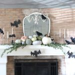 Pumpkin Patch Fall Mantel Updated for Halloween