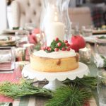 Elegant Christmas Tablescape With Pomegranates