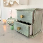 Thrift Store Makeover: Painted Wood Drawer Cabinet