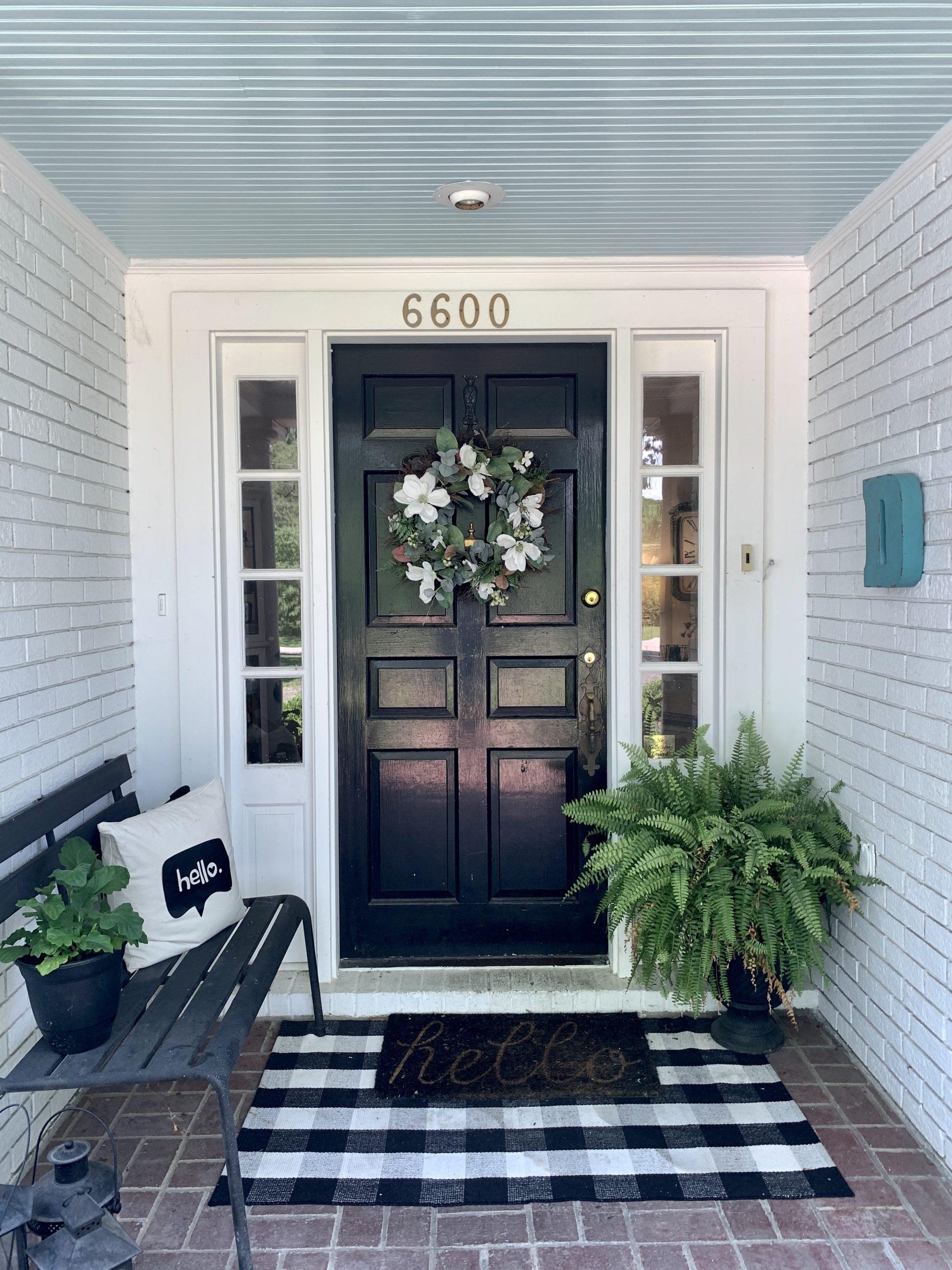 Blue Porch Ceiling- painted porch ceiling- southern porch-porch decor- summer porch