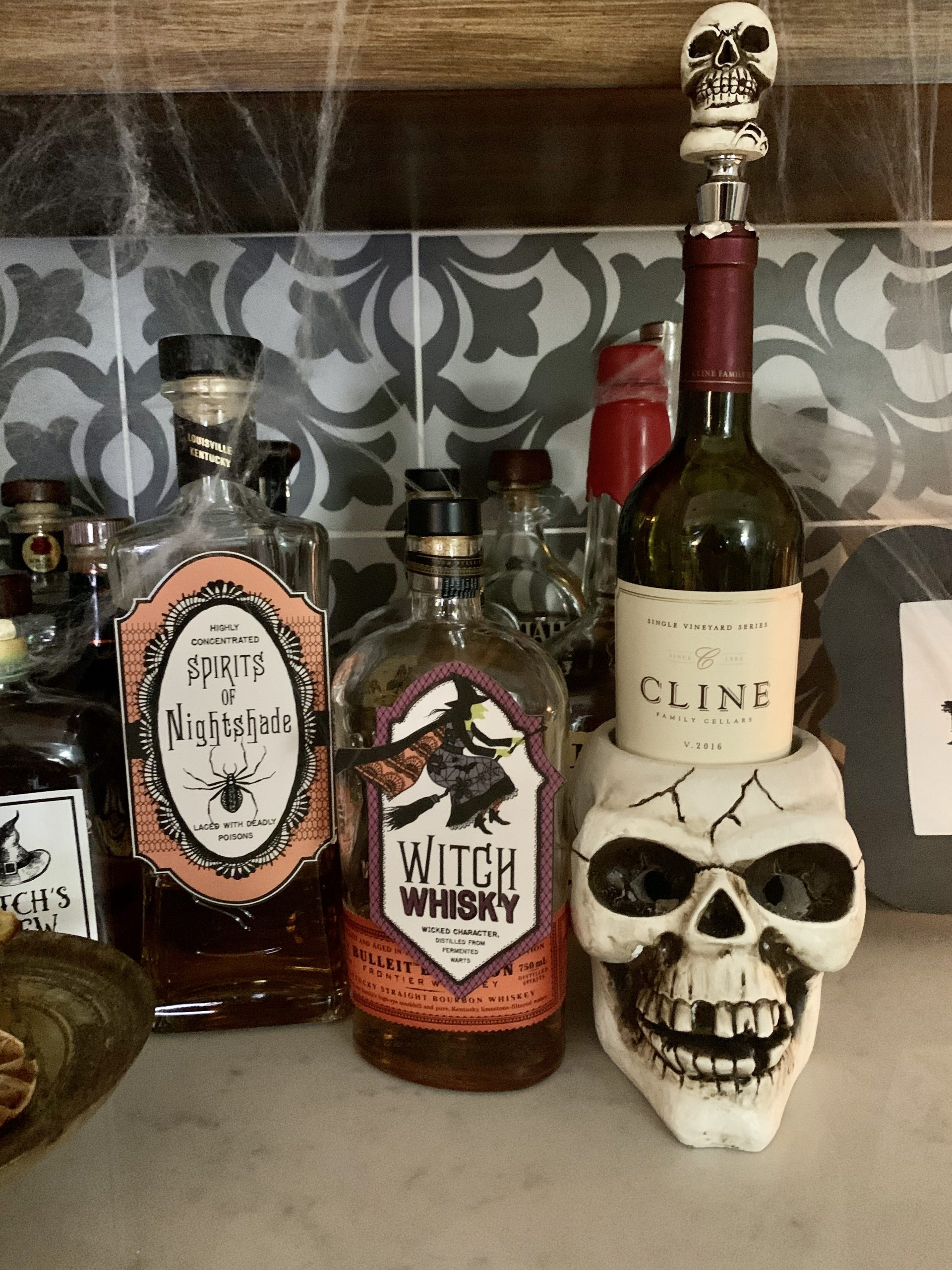 Halloween Bar~ White cottage home & living