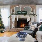 Green & Gold Christmas Family Room Tour