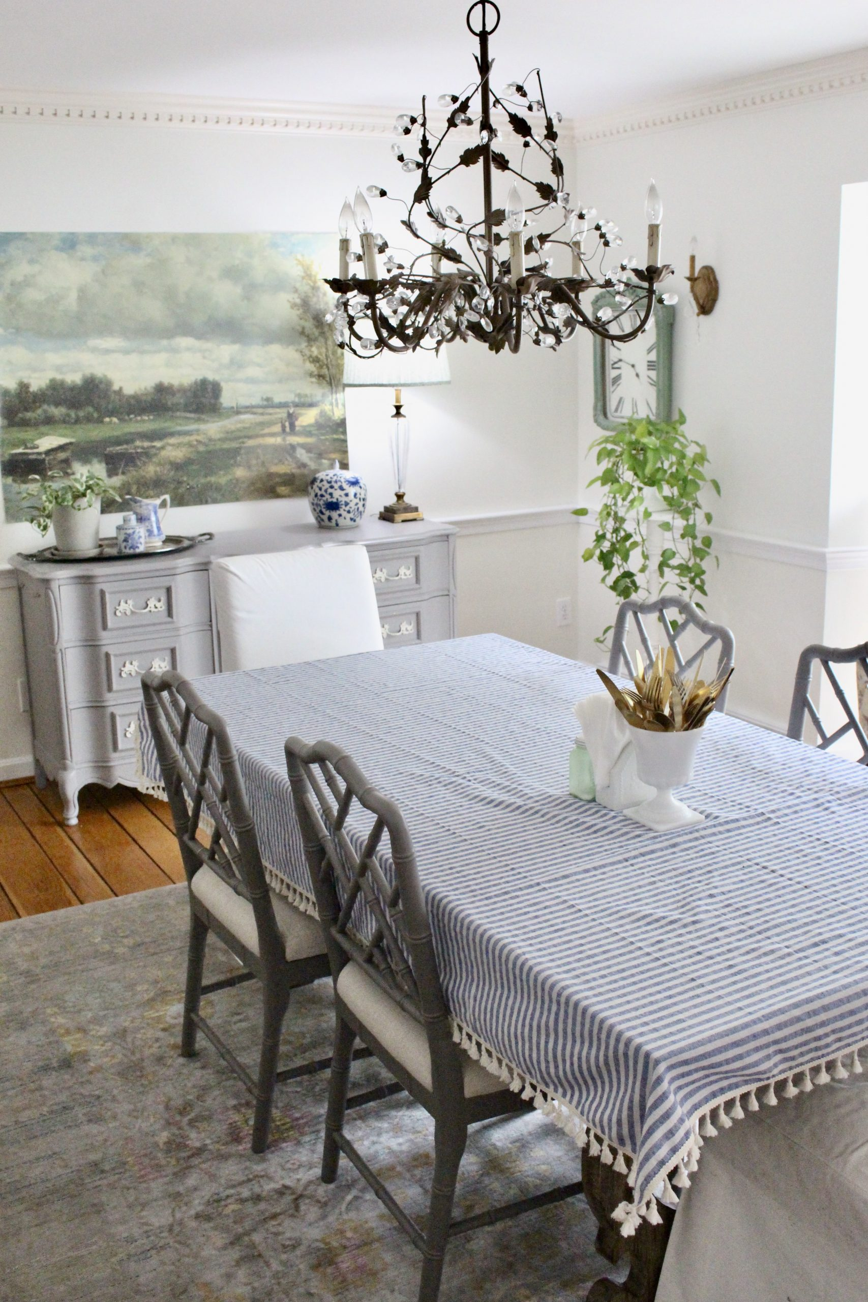 Summer in the Dining Room~ White Cottage Home & Living