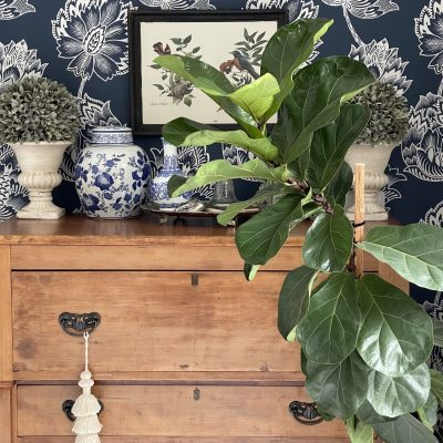 Removable Wallpaper in a Small Space~ White Cottage Home & Living