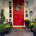 Fall Porch With Yellow & Red