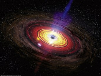 Again black hole waked up