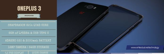 specification of oneplus 3