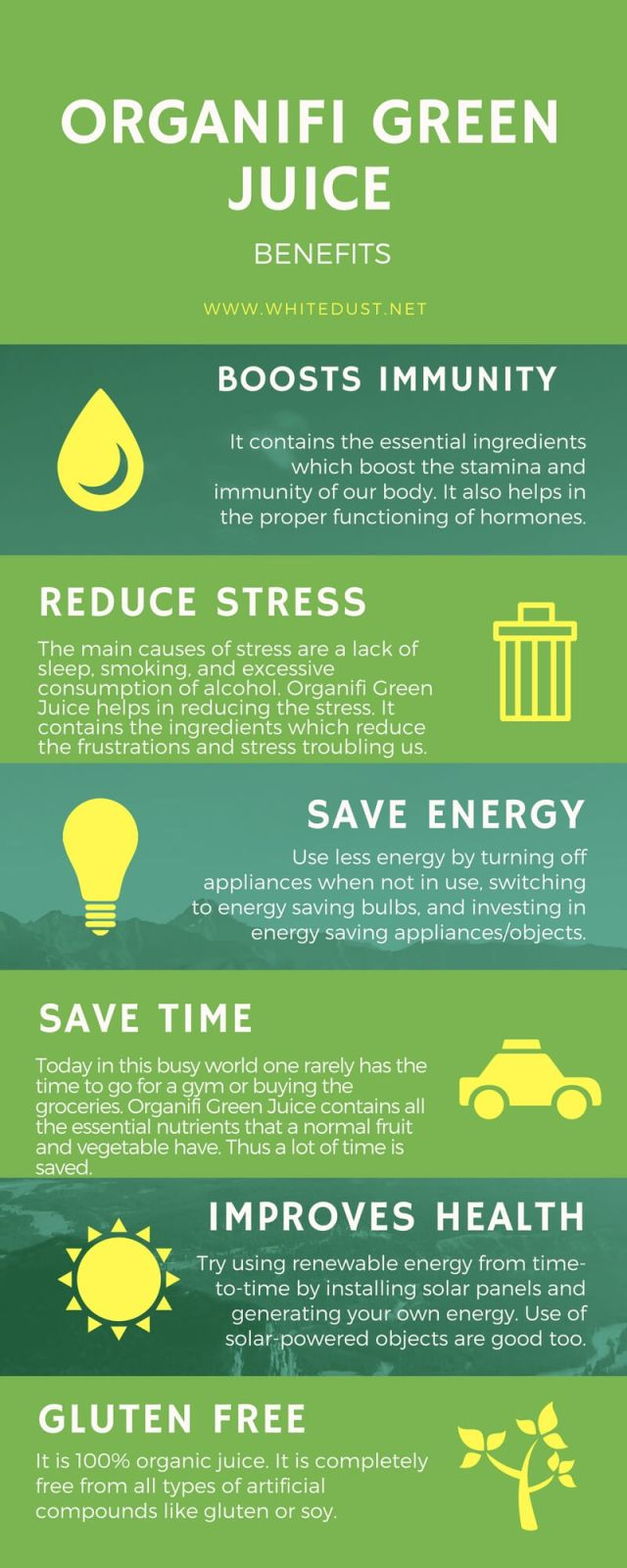 organifi green juice infographic