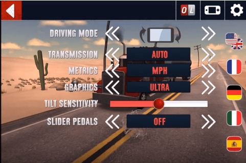 Truck Simulator USA game setting
