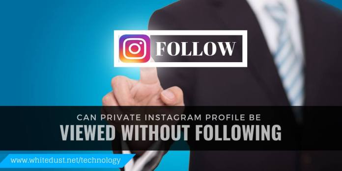 can private instagram profile be viewed without following